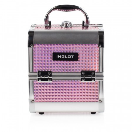MAKUEP CASE ICE CUBE MINI HOLOGRAPHIC PINK (MB152M K105-9H)