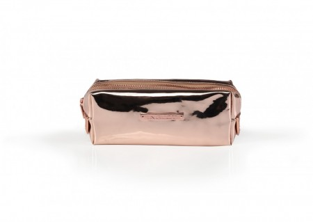Cosmetic makeup bag mirror rose
